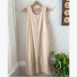 Vtg Minimalist Cotton Jumper Dress